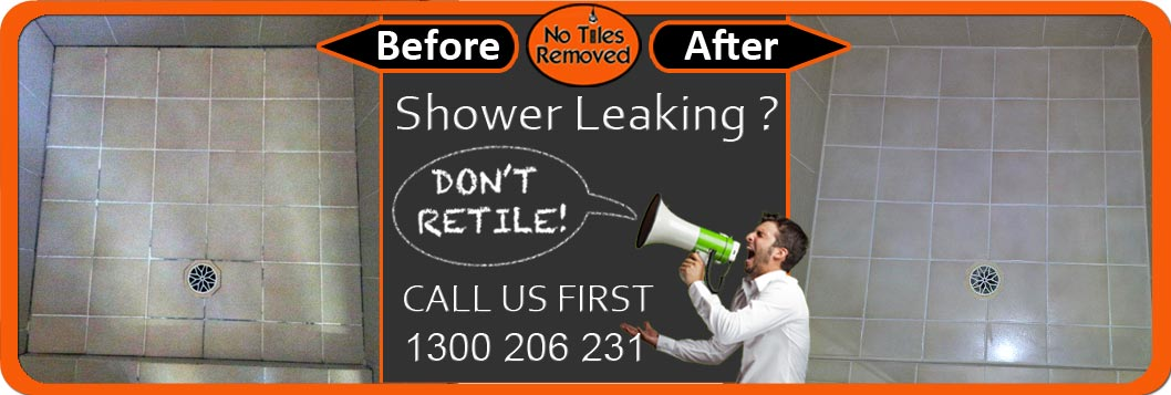 Shower Leaking? Don't Retile, Call us first